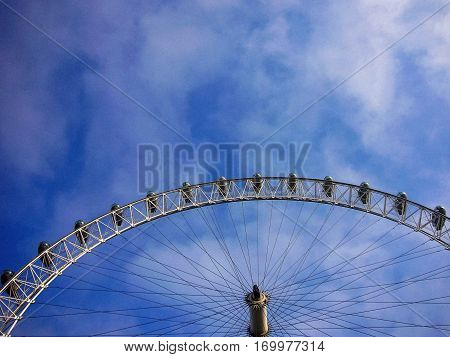 London Eye on the river Thames in England