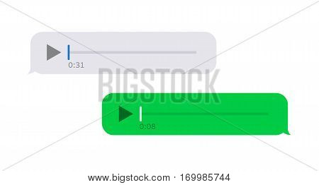 Vector modern sms or voice message icons. Bubble speech set