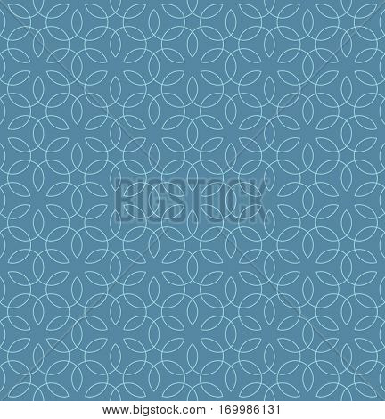 Neutral Seamless Linear Pattern. Tileable Geometric Outline Ornate. Vintage Flourish Vector Background in Niagara color.