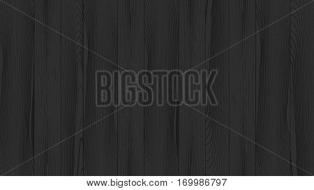 Realistic background of the wooden planks. Beautiful texture of planed hardwood. The backdrop for the presentation. Painted pine plank black.