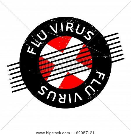 Flu Virus rubber stamp. Grunge design with dust scratches. Effects can be easily removed for a clean, crisp look. Color is easily changed.