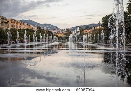 Promenade Du Paillon In Nice