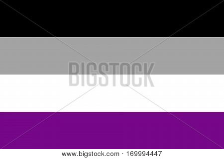 Asexual and demisexual pride flag. Vector illustration a graphic element