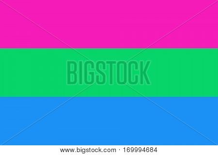 Polysexual pride flag. Vector illustration a graphic element