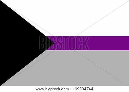 Proposed separate demisexual pride flag. Vector illustration a graphic element