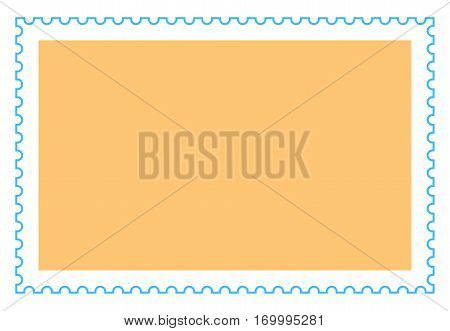 Empty rectangle postage stamp. Quick and easy recolorable shape. Vector illustration a graphic element.