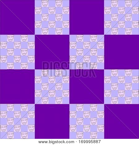 purple and violet squares of different sized