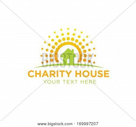 construction, building vector logo design template. build or orphanage, house icon.