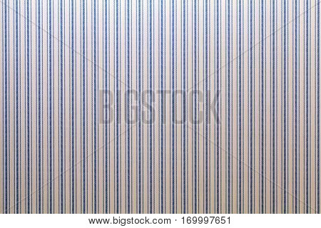 vintage textured wall paper with traditional blue striped pattern