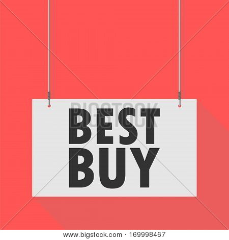 Hanging Sign best buy, simple vector illustration