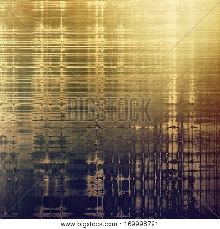 Antique frame or background with vintage feeling. Aged texture with different color patterns: yellow (beige); brown; gray; purple (violet)