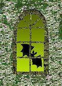bat against window poster
