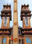 Cao Dai Temple in Tay Ninh province near Saigon Vietnam poster