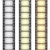 vector scratched seamless film strips poster