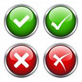 vector check mark buttons poster