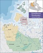 Map of Northwest Territories poster