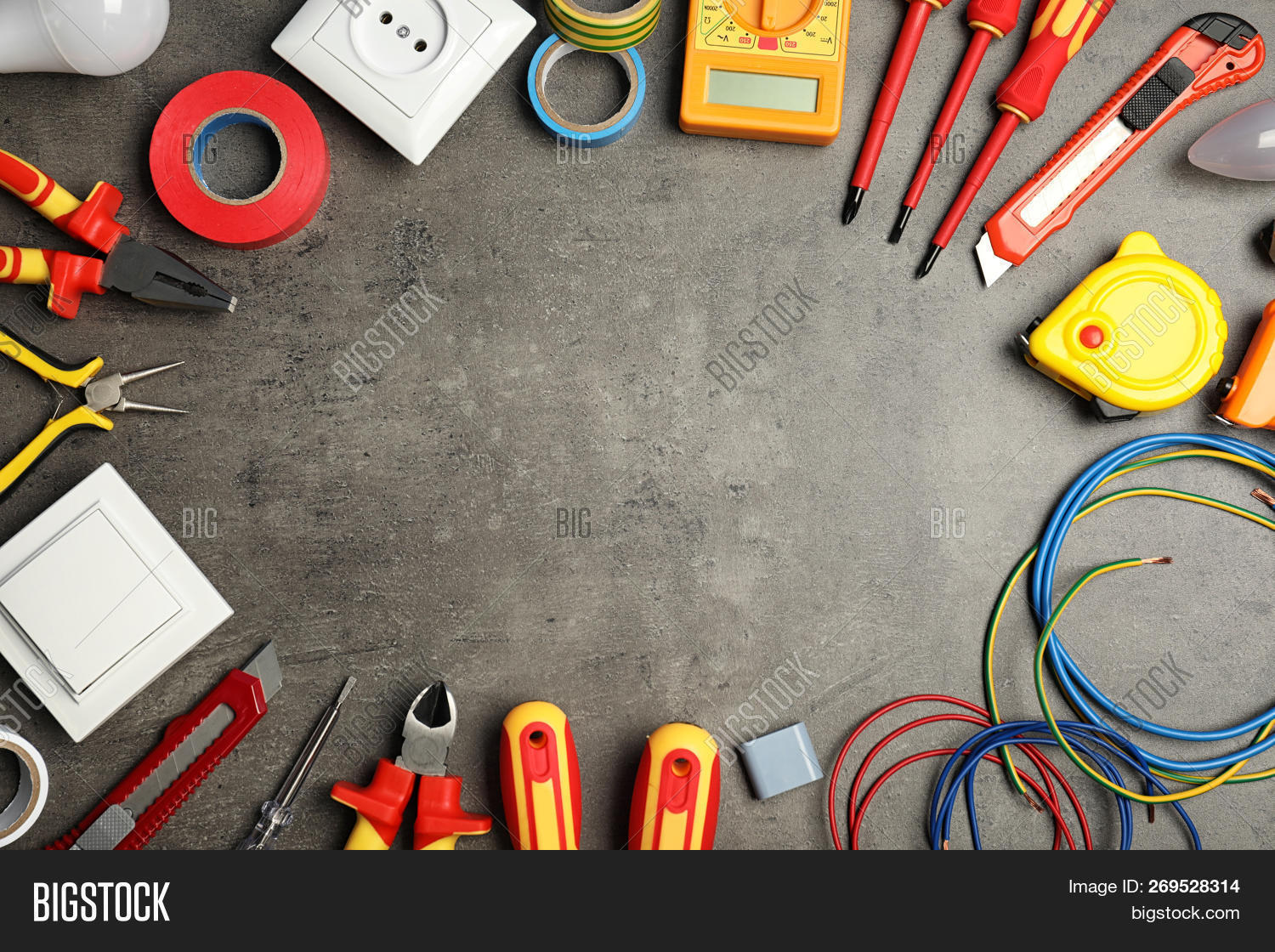 Flat Lay Composition Image Photo Free Trial Bigstock