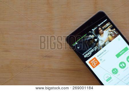 Bekasi, West Java, Indonesia. November 16, 2018 : Amazon Go Dev App On Smartphone Screen. Amazon Is