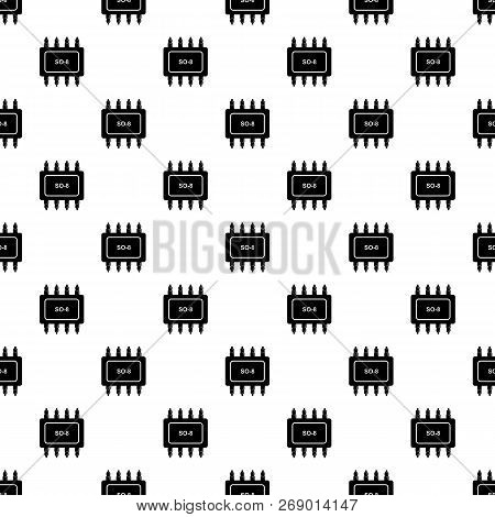 Transistor Microchip Pattern Vector Seamless Repeating For Any Web Design