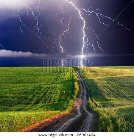 summer storm beginning with lightning poster