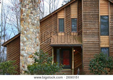 Home With Red Door