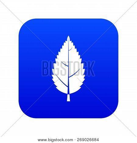Hornbeam Leaf Icon Digital Blue For Any Design Isolated On White Vector Illustration