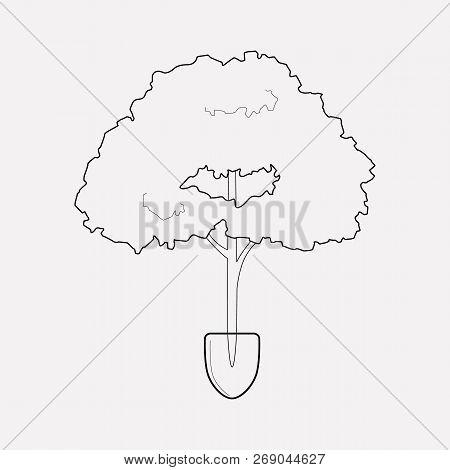 Afforestation Icon Line Element. Vector Illustration Of Afforestation Icon Line Isolated On Clean Ba