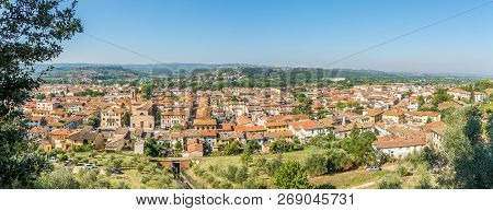 Panoramic View At The Lower Town Of Certaldo In Countryside Of Tuscany In Italy