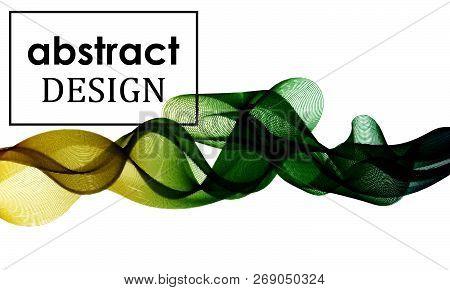 Fluid colorful texture. Flow shapes design. Eps10.