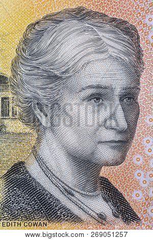 Edith Cowan Portrait From Australian Money - Dollars