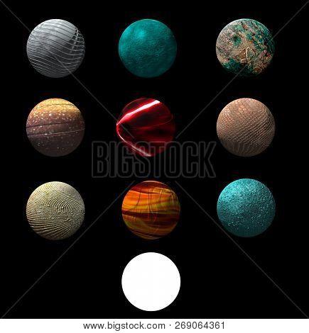 Planets design 3d