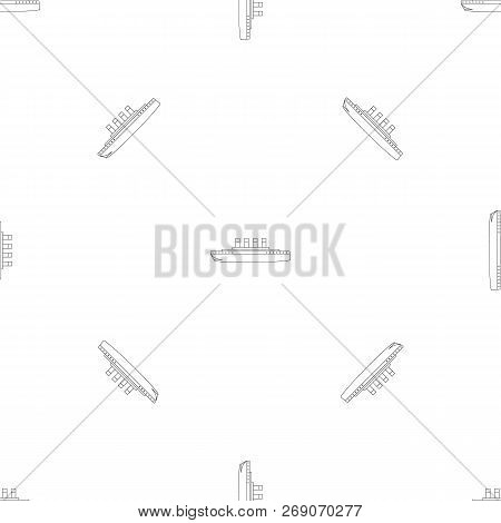 Titanic Pattern Seamless Vector Repeat Geometric For Any Web Design