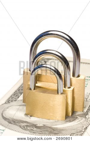 Triple Security For Money Concept