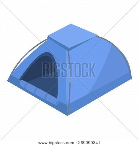 Camp Tent Icon. Isometric Of Camp Tent Vector Icon For Web Design Isolated On White Background