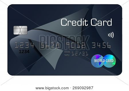 Here Is A Generic Credit Card Isolated On The Background.