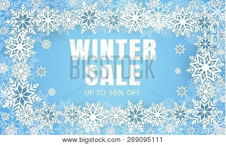 Winter Final Sale Concept Background. Realistic Illustration Of Winter Final Sale Vector Concept Bac