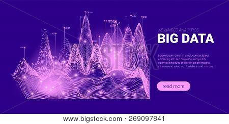 Quantum Cryptography Concept. Big Data Sorting. Futuristic Technology Background. Signal Cryptograph