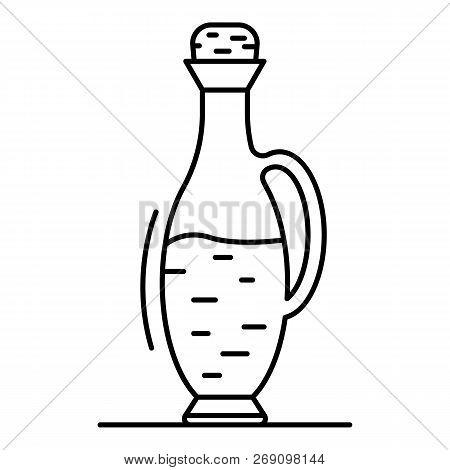 Balsamic Vinegar Bottle Icon. Outline Balsamic Vinegar Bottle Vector Icon For Web Design Isolated On
