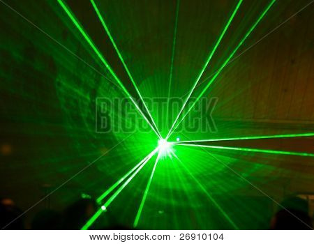 laser lights in the night club
