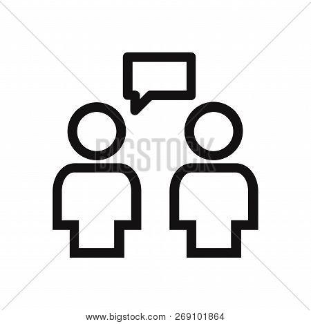 Conversation Icon Isolated On White Background. Conversation Icon In Trendy Design Style. Conversati