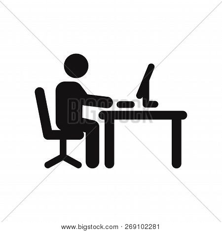Office Worker Icon Isolated On White Background. Office Worker Icon In Trendy Design Style. Office W