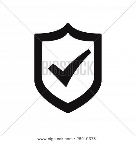 Active Shield Icon Isolated On White Background. Active Shield Icon In Trendy Design Style. Active S
