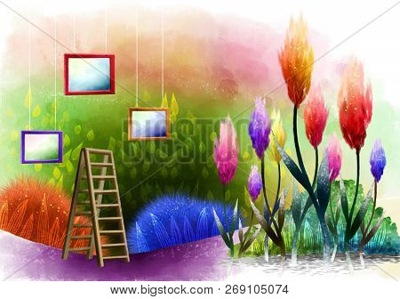 Photo Frame with flora