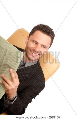 Happy News Happy Business Man