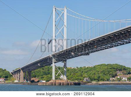 Forth Road Bridge Over Firth Of Forth, Scotland