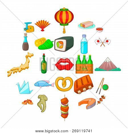 European Food Icons Set. Cartoon Set Of 25 European Food Vector Icons For Web Isolated On White Back