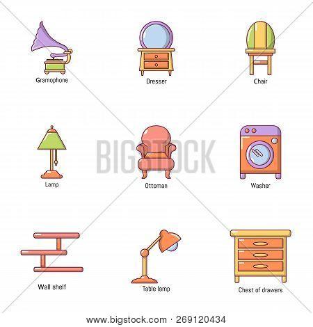 Lounge Icons Set. Flat Set Of 9 Lounge Vector Icons For Web Isolated On White Background