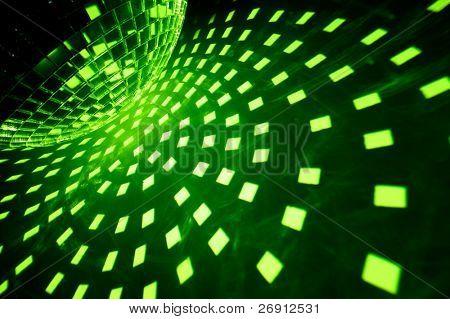 Disco lights with green illumination