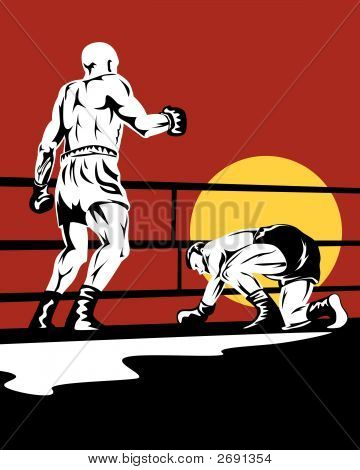 Boxer On The Floor After A Knockout