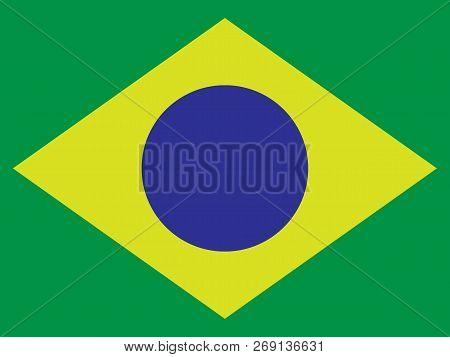 1f92430273944 Brazil Flag. Vector Format. Web Icon. Vector Illustration.